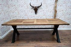 1000 ideas about esstisch holz metall on pinterest. Black Bedroom Furniture Sets. Home Design Ideas