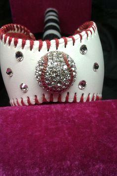 New Baseball CUFF Bracelet by JazzyJewlz2012 on Etsy