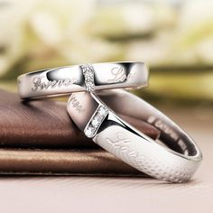 Forever Love Personalized Promise Rings for Him by onlyuniquegifts, $57.00