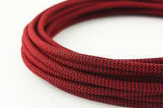 """""""Devil"""" textile power cord  €5.20  A cord with a strong look. Intense black and red zig zag pattern. A real eyecatcher for your design but stylish at the same time."""