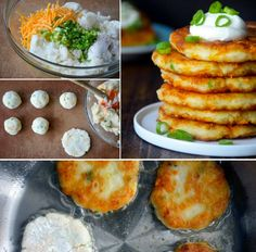 Mashed Potato Pancakes... serve with meatloaf or pork chops and fresh green beans! Maybe even eggs & bacon or sausage for breakfast!