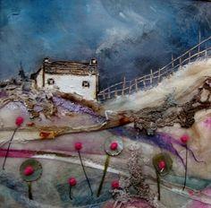 'A lazy day on the meadow'  by Louise O'Hara of DrawntoStitch https://www.facebook.com/DrawntoStitch