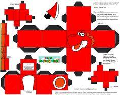 VG 5: Red Yoshi Cubee by TheFlyingDachshund on DeviantArt