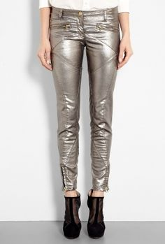 Bronze Biker Paneled Jeans by Faith Connexion