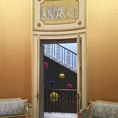 The beautiful Yellow Drawing Room at Wimpole hall and some fabulously kitsch decorations
