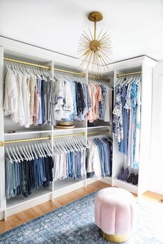 I have to say, it was a long awaited dream of mine to have a roomy clothing storage space to call my own. The inception of this walk-in closet began the second my youngest son moved out to be on hi… Master Closet Design, Walk In Closet Design, Master Bedroom Closet, Closet Designs, Wardrobe Design, Small Walk In Closet Ideas, Diy Closet Ideas, Diy Walk In Closet, Small Master Closet