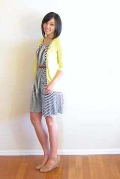 Striped dress from Putting Me Together