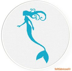 Mermaid Modern Cross stitch pattern PDF - Instant download