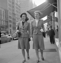 1945 These skirt-suited ladies are literally on their way to rule the city.
