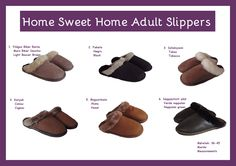 We present you the Handmade Sheepskin adult slippers collection..... Price: size 36-45 95 RON Our company can fabricate slippers in bigger sizes at request, however we must add 10 RON to the price of the products. Please contact us if you want us to convert the price in euro, dollar or any other currency. #slippers #sheepskin #wool #simonfur #fur #accessories #style #fashion Fur Fashion, Style Fashion, Fur Accessories, Baby Shoes, Slippers, Wool, Brown, Handmade, Collection