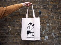 London Centre for Book Arts Shop — LCBA Tote Bag, artwork by Jay Cover
