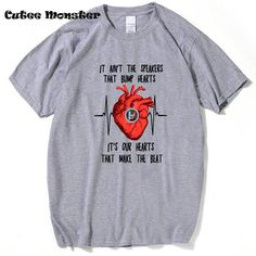 Twenty One Pilots Heart T shirt Men 2017 Fashion Mens Rock Band Top Tees It's Out Hearts That Make The Beat T-shirt Clothing