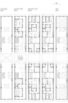 Image 58 of 65 from gallery of How Combining Social Housing with Tourism Could Help Solve Havana's Housing Crisis. Possible plans of Prototype Image Courtesy of Iwo Borkowicz Havana, Architecture Awards, Social Housing, Rural Area, How To Plan, Gallery, 5 Image, 1, Layout