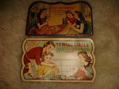 Vintage Needle Books Japan Graphic Nice Sewing Notions Sewing Circle Ladies sew on Etsy, $4.99