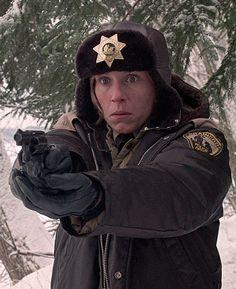 "Frances McDormand as Marge Gunderson, Fargo (1996) ""you betcha"".  Her performance was indeed Oscar worthy. Kudos Frances"