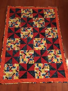 Throw size quilt - Sesame Street - Susan