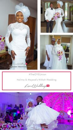 We spotted the bride in her stylish bridal outfit wit Wedding Dresses For Curvy Women, Beautiful Bridal Dresses, 2016 Wedding Dresses, Bridal Outfits, Bridal Gowns, Muslim Wedding Gown, Muslimah Wedding Dress, Nigerian Traditional Wedding, Traditional Wedding Attire