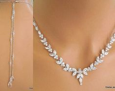 Bridal Backdrop Necklace, Bridal Necklace, Wedding Jewelry, Gold Wedding, Crystal Wedding, Dream Wedding, Wedding Dress, Real Diamond Necklace, Crystal Necklace