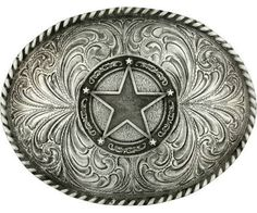 western belt buckles for men silver - Google Search