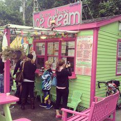 River Ducks Ice Cream in Camden, Maine