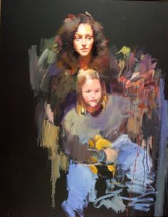 Sarah Singer and Child by Robert Lenkiewicz (C) Mother And Child Painting, Local Painters, Pencil Portrait, Figure Painting, Plymouth, Figurative, Comme, Contemporary Art, Sketches