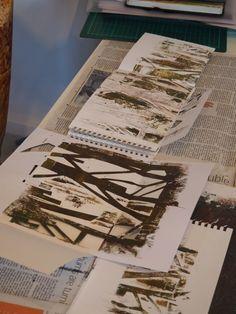 Creative Sketchbooks workshop with Laura Kemshall. www.laurakemshall.com