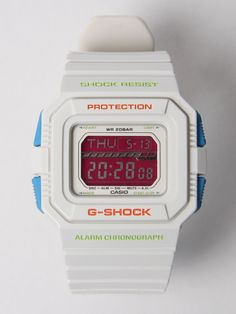 #white/#blue/#red Casio G-SHOCK. Attention grabber. £85