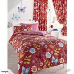 Flutterby Butterfly Single Duvet Cover and Pillowcase Set - Kids Bedroom Butterfly Bedroom, Red Butterfly, Single Duvet Cover, Duvet Cover Sets, Kids Bedroom, Kids Rooms, Home And Living, Bedding Sets, Playroom
