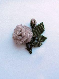 Розовая роза   biser.info - всё о бисере и бисерном творчестве