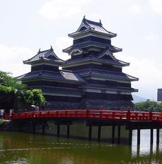 """Matsumoto Castle ( 松本城 ), also known as the """"Crow Castle"""" because of its black exterior, is one of Japan`s premier historic castles."""