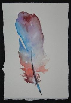watercolor feather ..would make a gorgeous watercolor tattoo