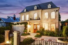 french chateau exterior, curved windows - Google Search
