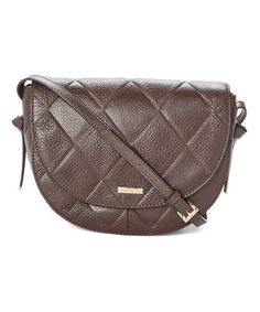 Love this Brown Quilted In Knots Leather Crossbody Bag on #zulily! #zulilyfinds