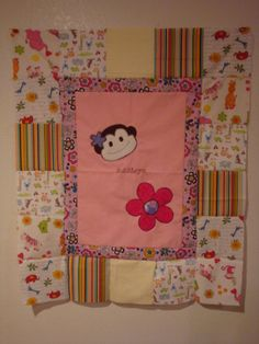 Girl Monkey baby blanket
