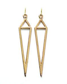 Gold Dagger Earrings