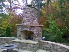 outdoor wood burning fireplace - Google Search