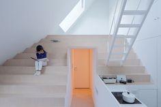 Sou Fujimoto Architects house k . Stairs Architecture, Japanese Architecture, Classical Architecture, Interior Architecture, Landscape Architecture, Sou Fujimoto, Arch Interior, Interior Design, Blog Design Inspiration