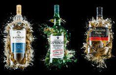 Exploded Bottles Of Whiskey