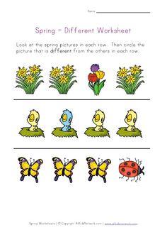 spring different worksheet