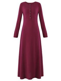 Casual Women Elegant Long Sleeve Slim Loose Collar Cardigan Dress