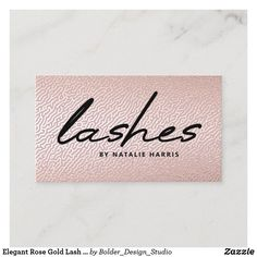 Elegant Rose Gold Lash Specialist Chic Business Card