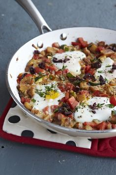 "Comfort Food Cookbook: Ratatouille Poached Eggs ""This old favorite is new again when served with poached eggs."" Photo: Becky Luigart-Stayner"