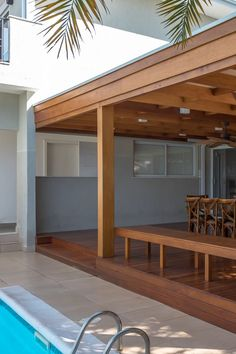 Pergola With Roof, Outdoor Pergola, Pergola Plans, Garden Sitting Areas, Rooftop Terrace Design, House Extension Design, Patio Canopy, Backyard Patio Designs, House With Porch