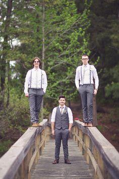 Groom + groomsmen photo ... Groom's Wedding Guide ... https://itunes.apple.com/us/app/the-gold-wedding-planner/id498112599?ls=1=8 ♥ The Gold Wedding Planner iPhone App ♥