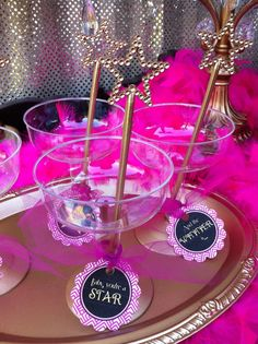 Great way to serve drinks at your Oscar party. See more party ideas at CatchMyParty.com. #glam