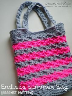 INSTANT Download - Endless Summer Bag CROCHET PATTERN Purse/Handbag Pdf File - Permission to sell finished item by AmandaMoutosDesigns