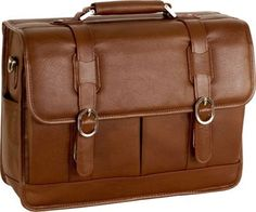 "McKlein USA Beverly Leather 15.4"" Laptop Case Cognac - via eBags.com!"