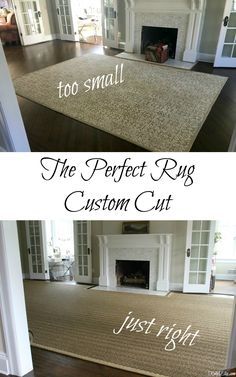Custom cut area rugs are the perfect solution for large or awkward rooms. Natural seagrass, jute or sisal is a great neutral choice rug for any room. Large Living Room Rugs, Large Family Rooms, Living Room Carpet, Living Area, Cheap Large Area Rugs, Cheap Area Rugs 8x10, Oversized Area Rugs, Rug Over Carpet, Red Carpet
