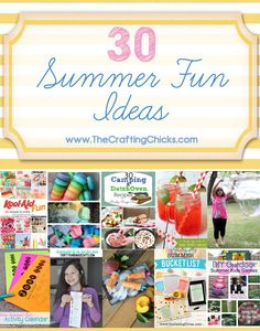 School is out for my kiddos which means summer is in full swing. We've been pinning up a storm of some fun creative things you can do to keep those kids, and you, entertained. Summer Activities For Kids, Games For Kids, Fun Activities, Crafts For Kids, Outdoor Activities, Kid Games, Activity Ideas, Toddler Activities, Summer Diy