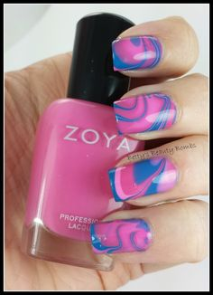 http://www.bettysbeautybombs.com/2014/05/25/zoya-tickled-water-marble/ / #nailart Water Marble using #zoyanailpolish from the Tickled collection